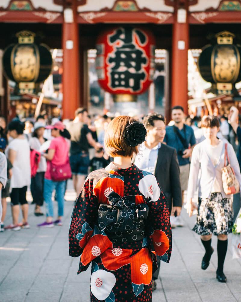 Asakusa Tokyo Yukata Elindulgist matsuri
